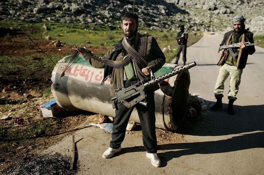 Militantes rebeldes em Idlib, Síria