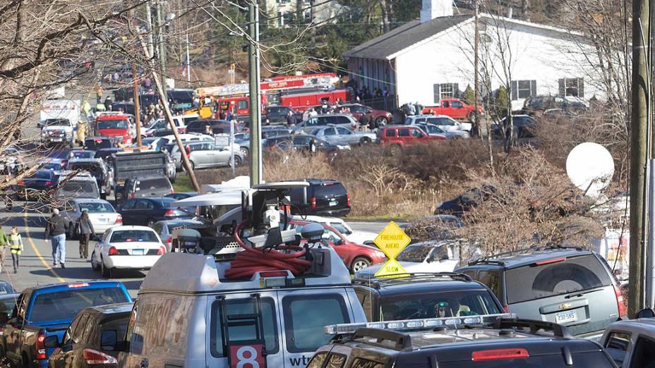 Um homem armado abriu fogo esta sexta-feira na escola primária Sandy Hook em Newtown, no estado norte-americano de Connecticut