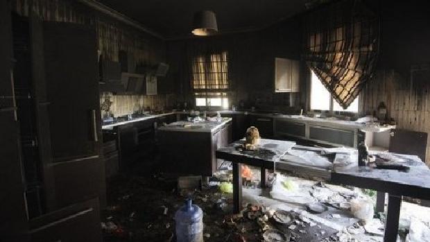 Consulado americano em Bengasi, na Líbia, após o ataque terrorista