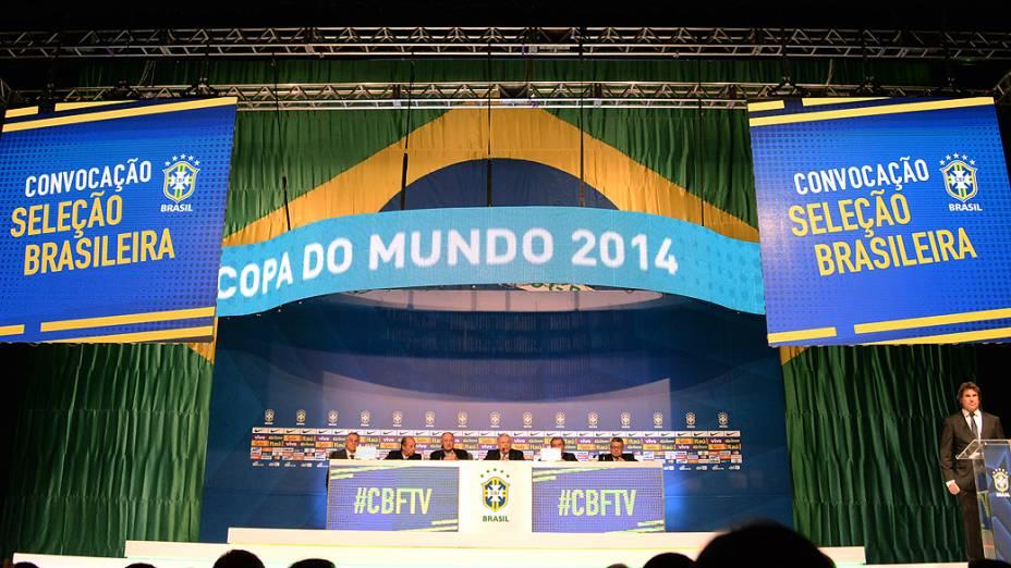 Luiz Felipe Scolari, durante a convocação da Seleção Brasileira de Futebol para a Copa do Mundo 2014, nesta quarta-feira (07)