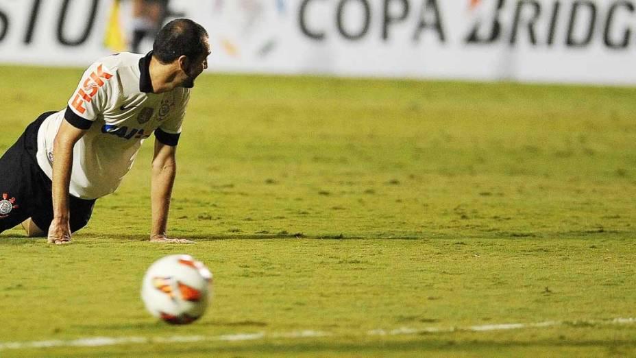 Corinthians empata contra Boca Juniors, pela copa Libertadores e foi eliminado no estádio Pacaembu em São Paulo