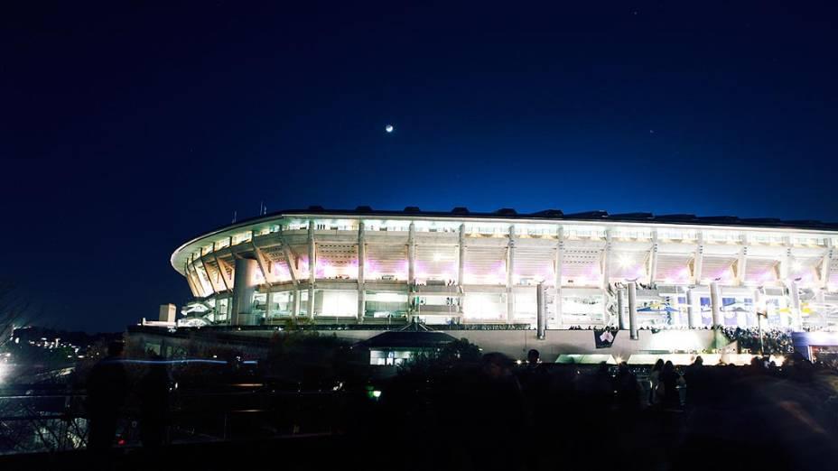 Vista do Estádio Nacional de Yokohama, antes da partida Corinthians x Chelsea, pela final do Campeonato Mundial de Clubes da Fifa