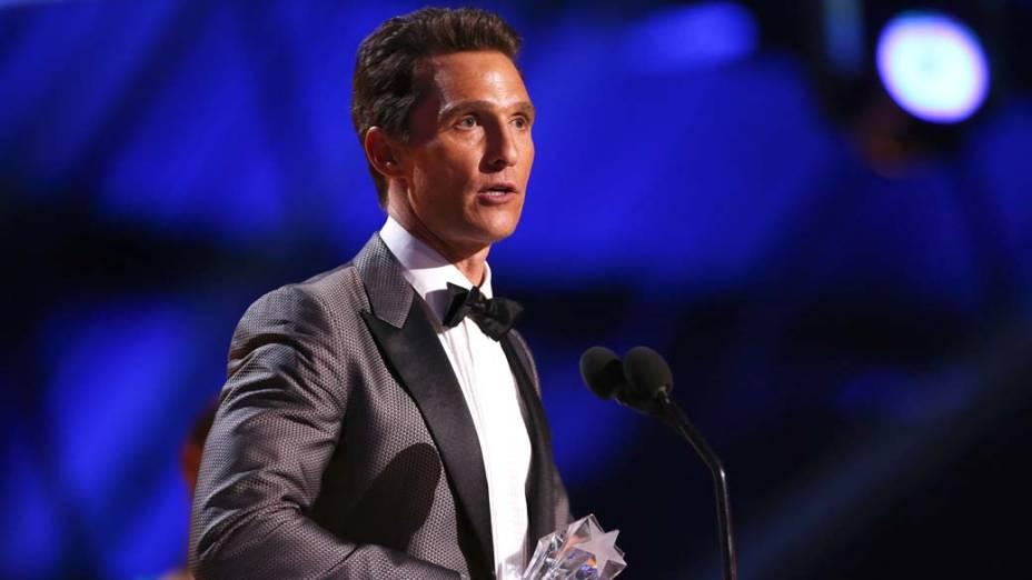 Matthew McConaughey durante o Critcs Choice Awards