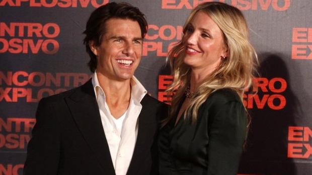 """Tom Cruise e Cameron Diaz chegam para a pré-estreia de """"Encontro Explosivo"""" no Rio"""