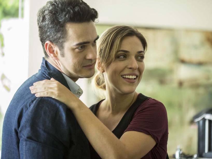 Marcos Veras e Júlia Rabello nas gravações de Porta dos Fundos - Contrato Vitalício