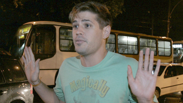 O ator Dado Dolabella, condenado por ter agredido a então namorada Luana Piovani, em 2008