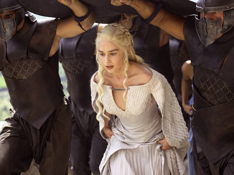 Daenerys Targaryen (Emilia Clarke) em cena da quinta temporada de Game of Thrones