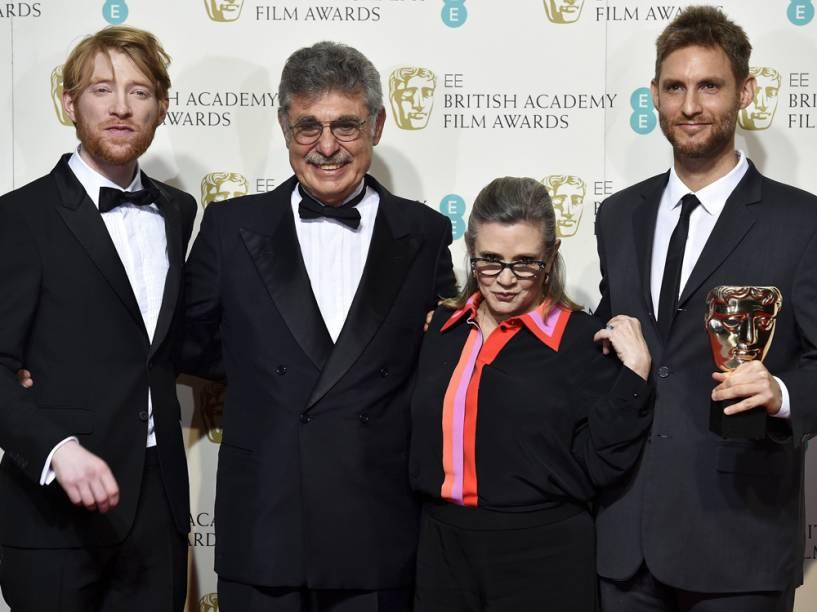 Damian Szifron e Hugo Sigman, de 'Relatos Selvagens', recebem o Bafta de melhor filme em língua estrangeira dos atores  de 'Star Wars' Carrie Fisher e Domhnall Gleeson