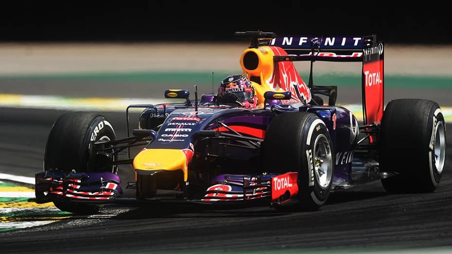 Daniel Ricciardo da Red Bull no GP Brasil de Fórmula 1