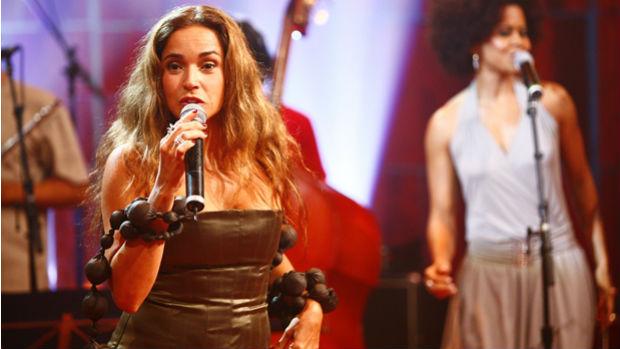 Daniela Mercury no programa <em>Som Brasil</em>, em 2009