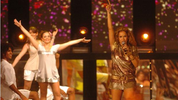 Daniela Mercury grava especial de fim de ano da Globo em 2008