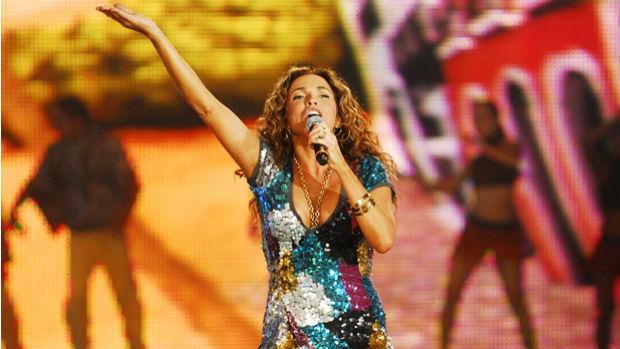 Daniela Mercury durante show em 2007