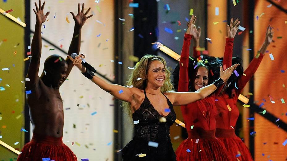Daniela Mercury durante o Grammy latino 2010 em Las Vegas