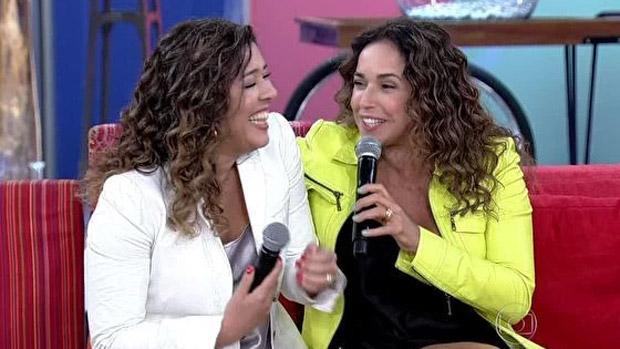 Daniela Mercury e a mulher, Malu Verçosa, no Encontro com Fátima Bernardes, da Globo
