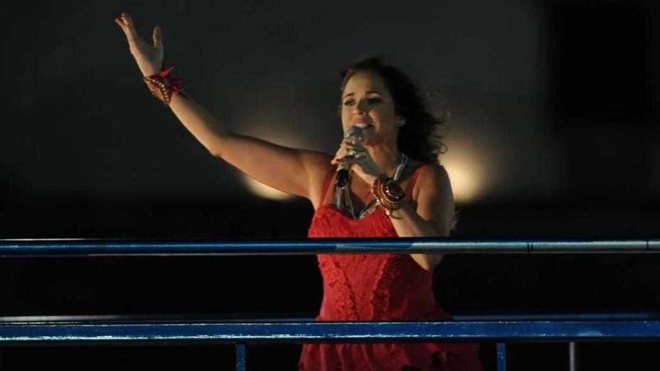 Daniela Mercury, no carnaval de Salvador
