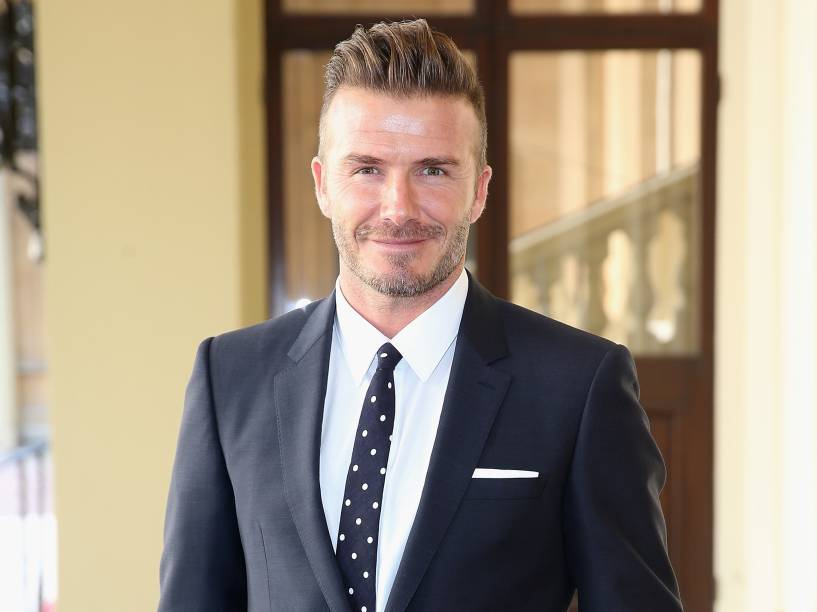 David Beckham em evento no Palácio de Buckingham, em Londres, Inglaterra