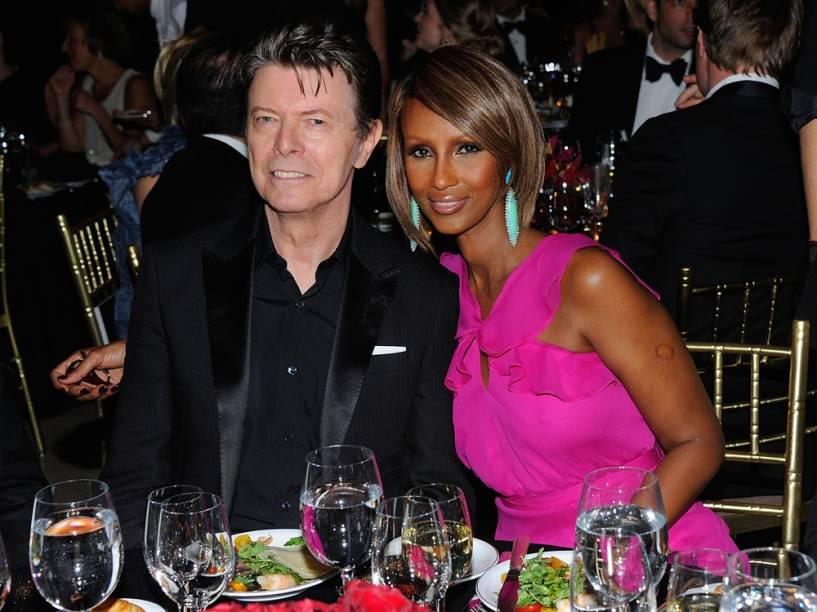 David Bowie e a esposa Iman Abdulmajid