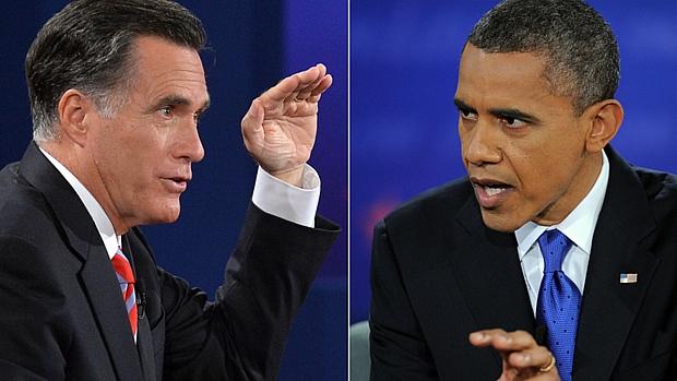 Romney e Obama: no último debate antes da eleição, candidatos relacionaram política externa com temas internos