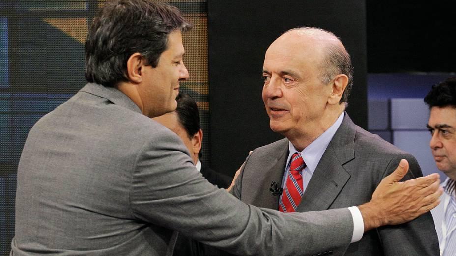 Debate entre os candidatos à Prefeitura de São Paulo Fernando Haddad (PT) e Jose Serra (PSDB), para o 2º turno