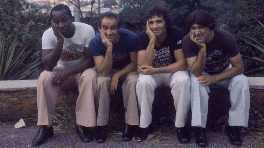 Mussum, Renato Aragão, Dedé Santana e Zacarias na década de 1970