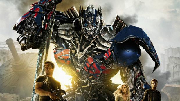 Detalhe do cartaz do filme Transformers: A Era da Extinção