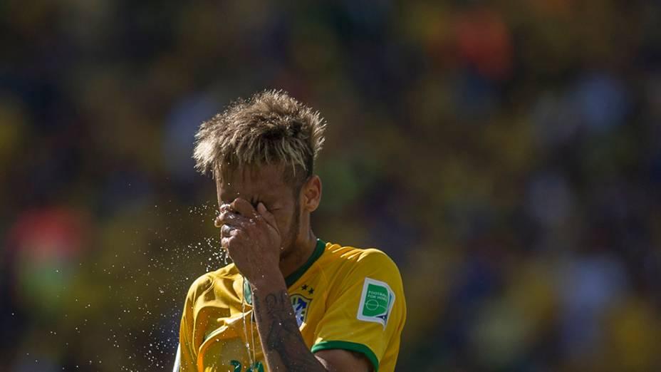 Neymar durante o jogo contra o Chile