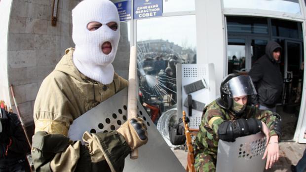 Ativistas pró-Rússia tomam prédio administrativo da cidade de Donetsk, no leste da Ucrânia