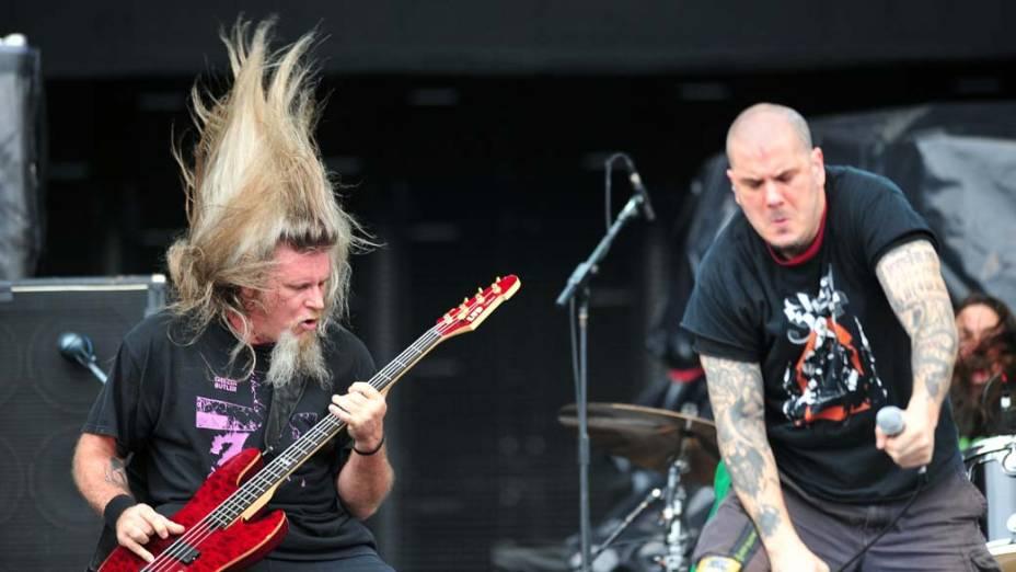Show da banda Down no palco Energia & Consciência, no último dia do festival SWU em Paulínia, em 14/11/2011