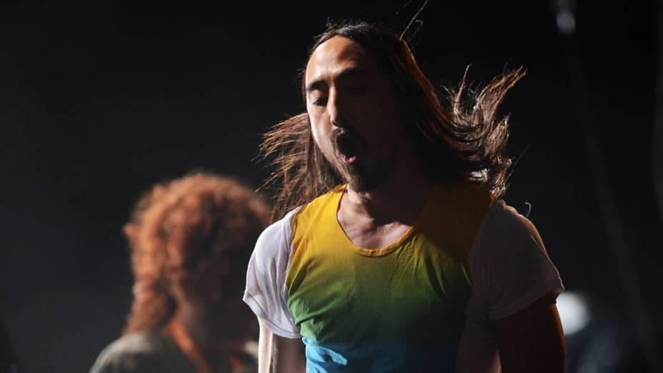 Apresentação do Steve Aoki no segundo dia do Lollapalooza