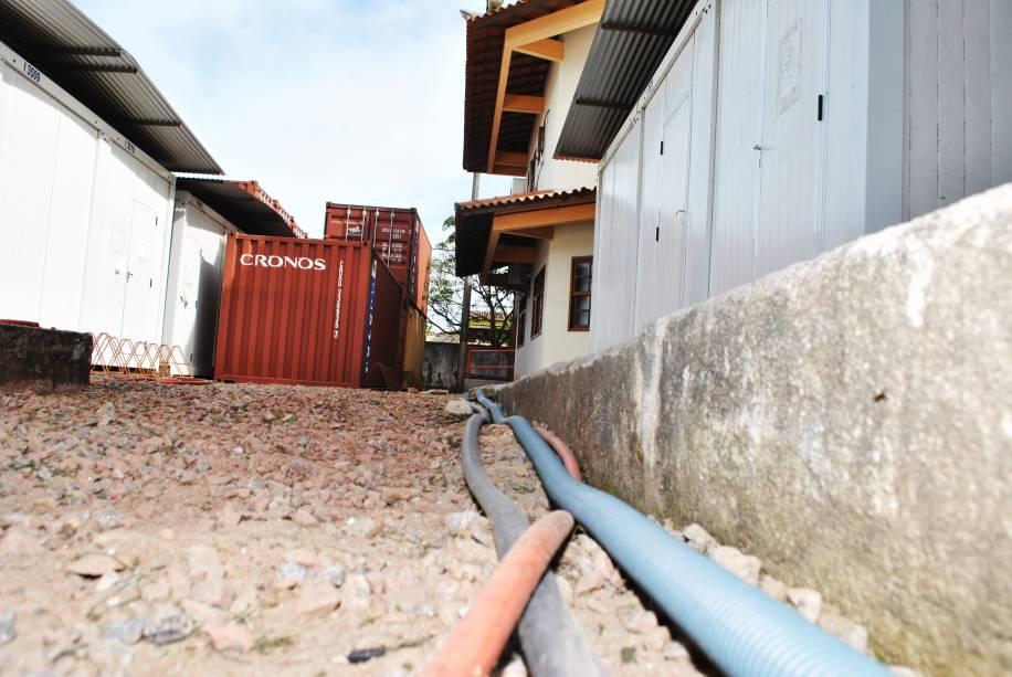 Instalações improvisadas no campus da UFF: universidade foi a que mais abriu vagas no estado do Rio