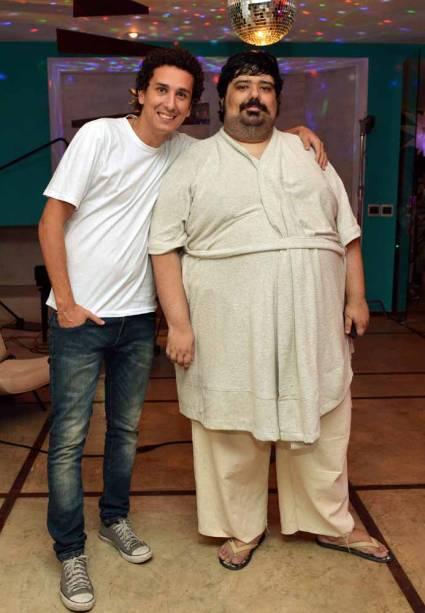 Rafael Portugal e Gabriel Totoro nas gravações de Porta dos Fundos - Contrato Vitalício