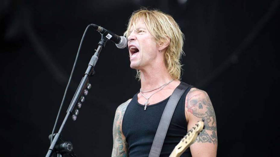 Duff Mckagan's Loaded durante show no palco Energia & Consciência, no último dia do festival SWU em Paulínia, em 14/11/2011