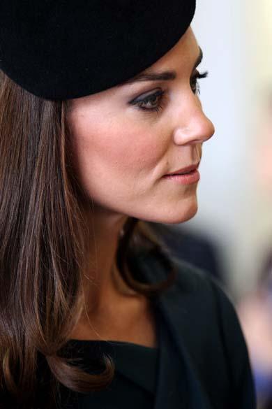 A duquesa de Cambridge, Kate Middleton, durante visita que marca o primeiro dia do jubileu de diamante da rainha Elizabeth II em Leicester