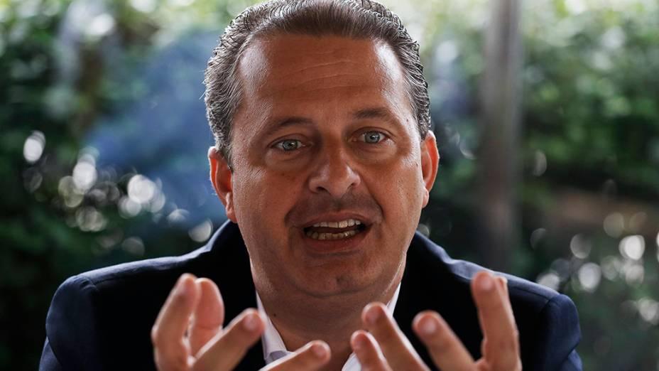 Eduardo Campos durante entrevista em 2014