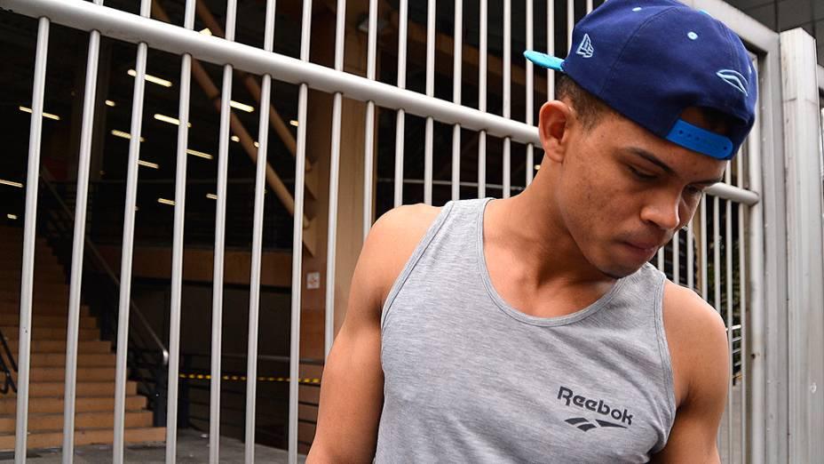 Dhioney Ferreira Costa, 23, ficou preso no trânsito e não chegou a tempo para a prova