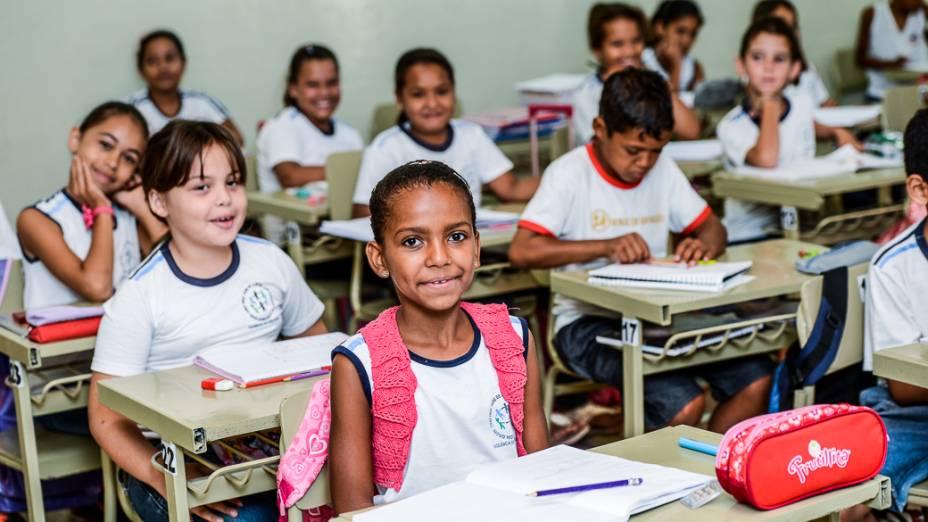 Turma da Escola Municipal Hebe de Almeida Leite Cardoso, em Novo Horizonte (SP)