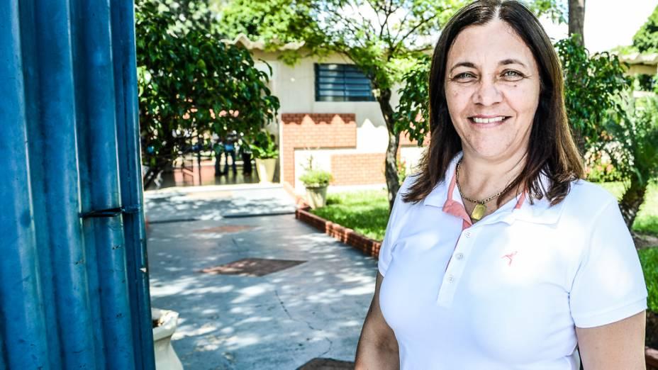 Maria Cristina Prado, diretora da Escola Municipal Hebe de Almeida Leite Cardoso, de Novo Horizonte (SP)