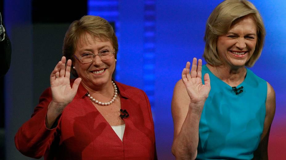 Candidatas presidenciais do Chile, Michelle Bachelet e Evelyn Matthei