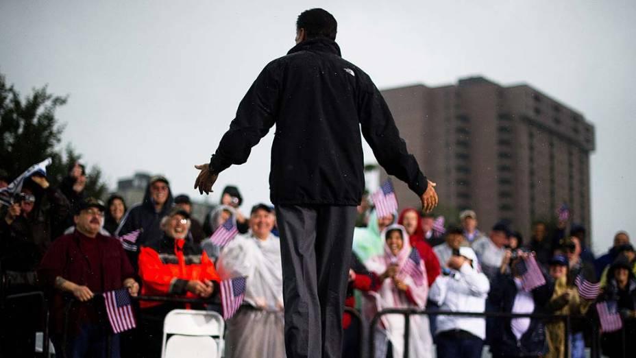 Mitt Romney durante campanha na Virginia, em 08/10/2012