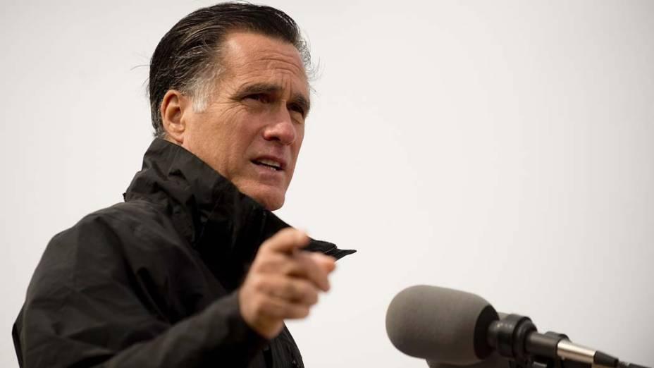 Mitt Romney durante campanha em Iowa, em 09/10/2012