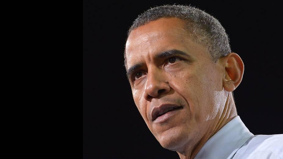 Barack Obama durante campanha, em Las Vegas, Nevada