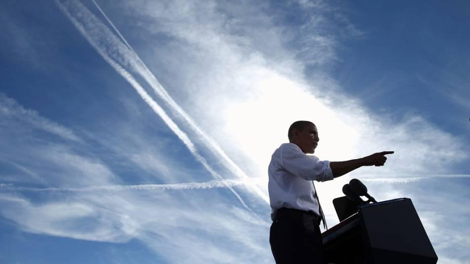 Barack Obama em comício em North Las Vegas, Nevada