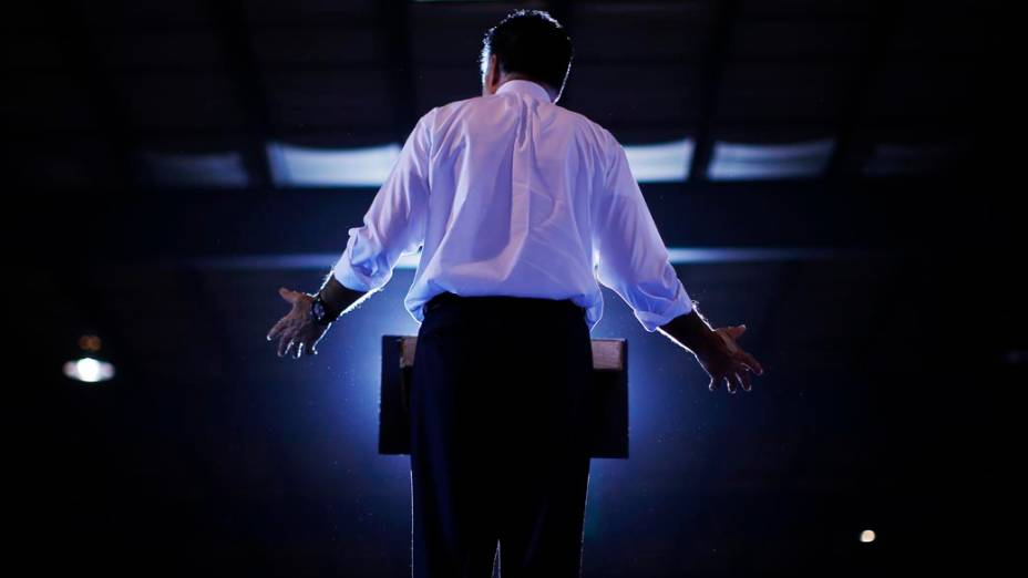 Mitt Romney durante campanha em Ohio