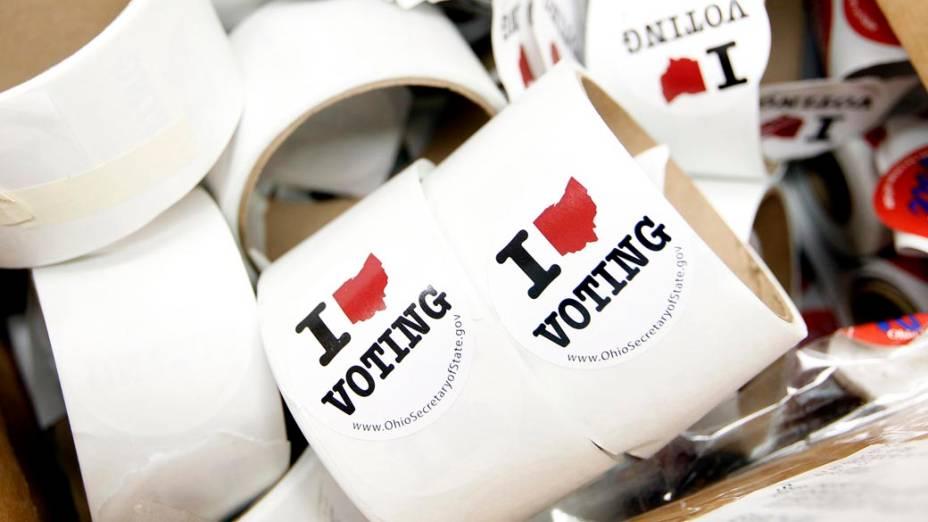 Adesivos Eu amo votar em Newark, Ohio