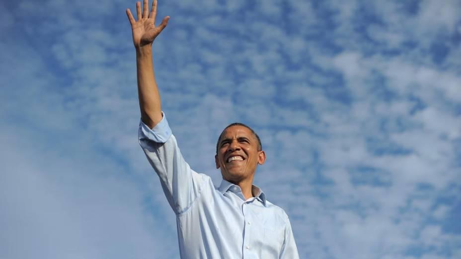 Barack Obama em campanha na Flórida