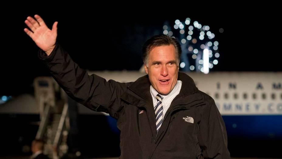 Mitt Romney em campanha na Pensilvânia