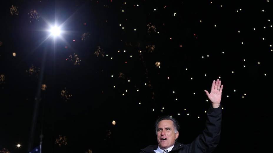 Mitt Romney durante campanha na Pensilvânia