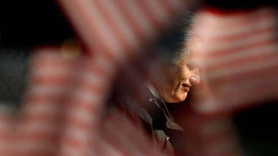 O candidato Mitt Romney em campanha na Virginia, Estados Unidos