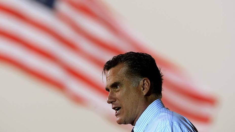 Mitt Romney durante campanha na Flórida