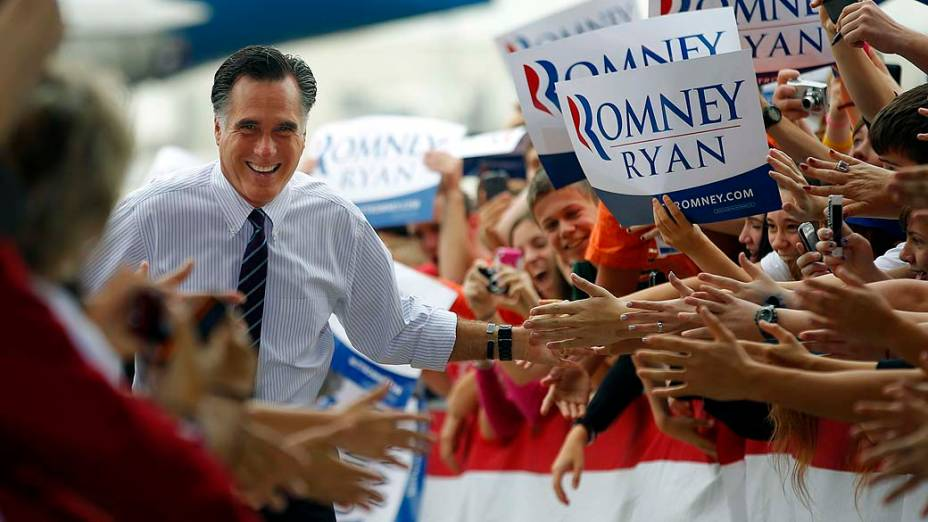 Mitt Romney durante campanha em Sanford